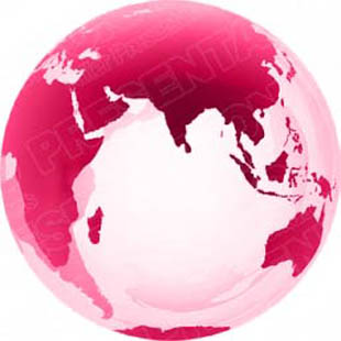 download high quality royalty free 3d globe asia pink powerpoint
