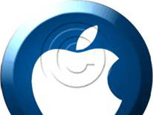 Transparent Button Apple Blue PPT PowerPoint picture photo