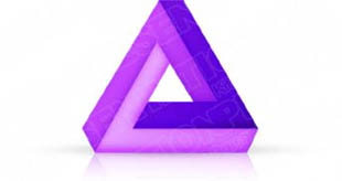 Download 3dtriangle04 purple PowerPoint Graphic and other software plugins for Microsoft PowerPoint