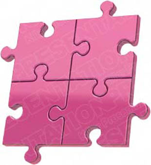 Download puzzle 4 pink PowerPoint Graphic and other software plugins for Microsoft PowerPoint