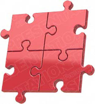 Download puzzle 4 red PowerPoint Graphic and other software plugins for Microsoft PowerPoint