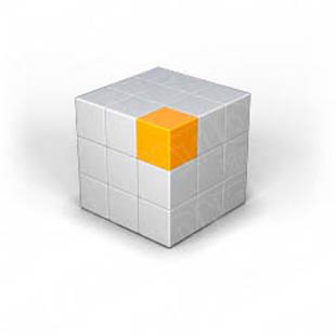 Download puzzle cube 2 orange PowerPoint Graphic and other software plugins for Microsoft PowerPoint