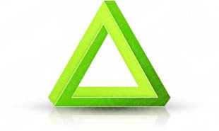 Download 3dtriangle01 green PowerPoint Graphic and other software plugins for Microsoft PowerPoint