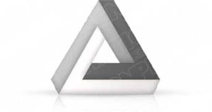 Download 3dtriangle04 silver PowerPoint Graphic and other software plugins for Microsoft PowerPoint