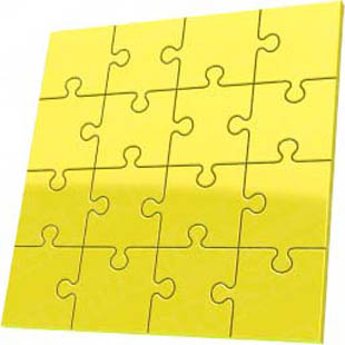 Download puzzle 16 yellow PowerPoint Graphic and other software plugins for Microsoft PowerPoint