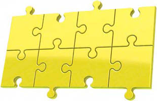 Download puzzle 8 yellow PowerPoint Graphic and other software plugins for Microsoft PowerPoint