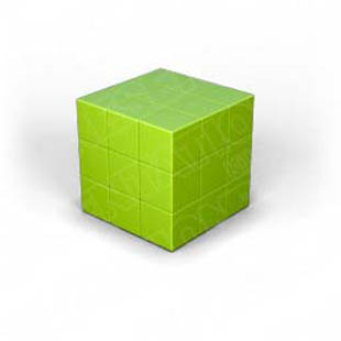 Download puzzle cube 1 green PowerPoint Graphic and other software plugins for Microsoft PowerPoint