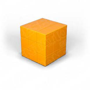 Download puzzle cube 1 orange PowerPoint Graphic and other software plugins for Microsoft PowerPoint