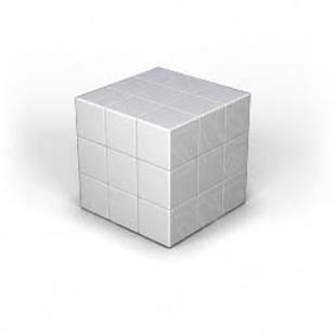 Download puzzle cube 1 silver PowerPoint Graphic and other software plugins for Microsoft PowerPoint