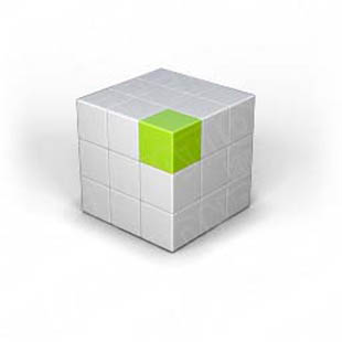 Download puzzle cube 2 green PowerPoint Graphic and other software plugins for Microsoft PowerPoint