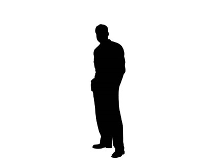 mypuzzledesign business man standing silhouette in - 435×326