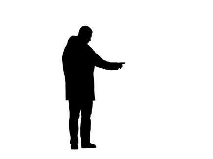 PresentationPro - Silhouette Man Standing Pointing 01