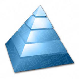 Download pyramid 01 blue PowerPoint Graphic and other software plugins for Microsoft PowerPoint
