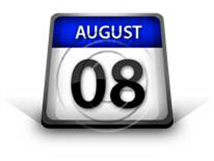 Calendar August08 PPT PowerPoint Image Picture