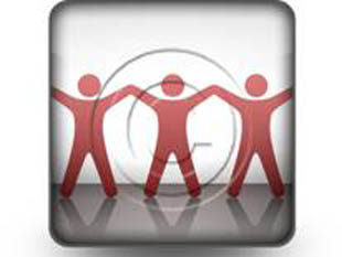 Celebrating Teamwork Red Square PPT PowerPoint Image Picture