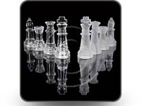 Glass Chess Pieces Square PPT PowerPoint Image Picture