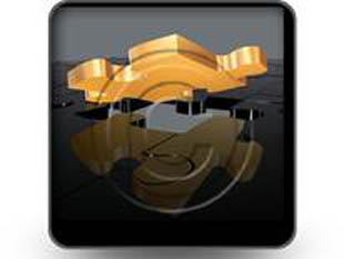 Gold Puzzle Square PPT PowerPoint Image Picture