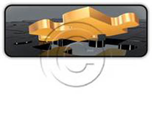 Gold Puzzle Rectangle PPT PowerPoint Image Picture