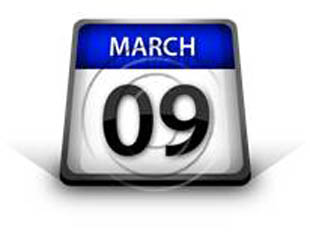 Calendar March 09 PPT PowerPoint Image Picture