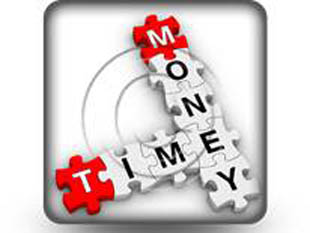 Money Time Puzzle Square PPT PowerPoint Image Picture