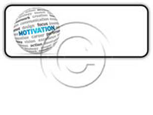 Motivation Word Cloud Rectangle PPT PowerPoint Image Picture