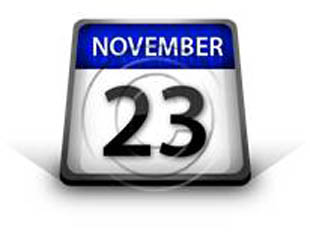 Calendar November 23 PPT PowerPoint Image Picture