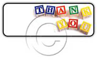 Thankyou Blocks Rectangle PPT PowerPoint Image Picture