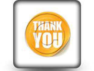 Thankyou Sticker Square PPT PowerPoint Image Picture