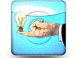 Bright Idea Square Color Pencil PPT PowerPoint Image Picture