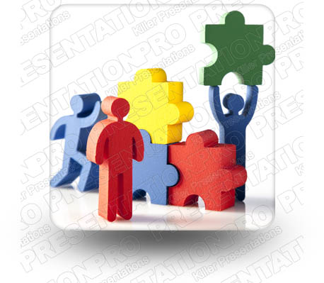 Puzzle Figures 01 Square PPT PowerPoint Image Picture