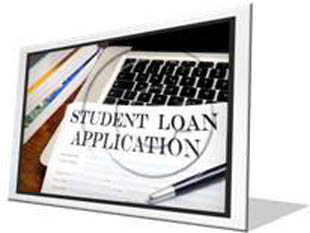Student Load Application Frame PPT PowerPoint Image Picture