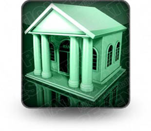 Download bank building green b PowerPoint Icon and other software plugins for Microsoft PowerPoint