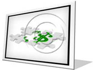 Dollar Sign Puzzle F PPT PowerPoint Image Picture