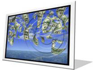 Flying 100 Bills Frame PPT PowerPoint Image Picture