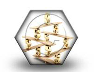 balanced money HEX PPT PowerPoint Image Picture