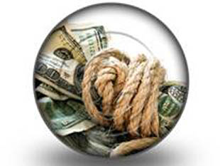 dollar bills tied with rope circle PPT PowerPoint Image Picture