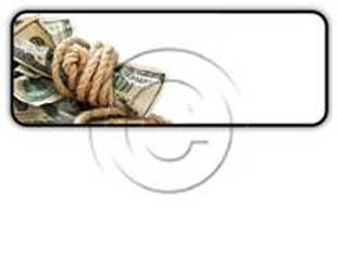 dollar bills tied with rope Rectangle PPT PowerPoint Image Picture