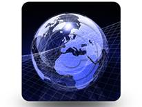 Blue Glass Globe 03 Square PPT PowerPoint Image Picture