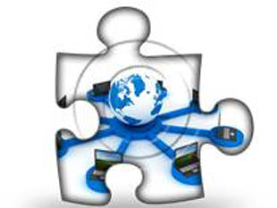 Download High Quality Royalty Free Global Computer Network Blue