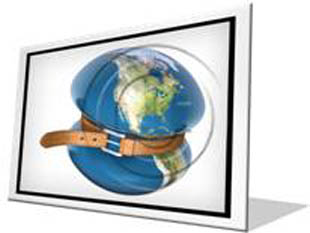Global Crisis Squeeze F PPT PowerPoint Image Picture