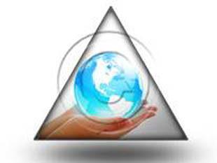 Globe In Hand Tri PPT PowerPoint Image Picture