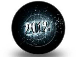 2012 GLASS Circle PPT PowerPoint Image Picture