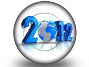 2012 GLOBE Circle PPT PowerPoint Image Picture