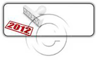 2012 STAMP Rectangle PPT PowerPoint Image Picture