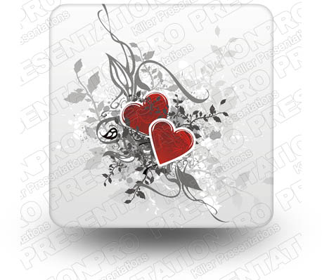 Hearts 01 Square PPT PowerPoint Image Picture