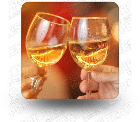 Wine Toast 01 Square PPT PowerPoint Image Picture