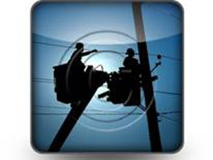 Working Linemen Square PPT PowerPoint Image Picture