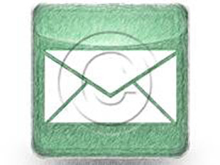 Mail Green Color Pen PPT PowerPoint Image Picture