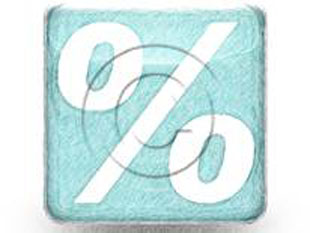 PercentSign Teal Color Pen PPT PowerPoint Image Picture