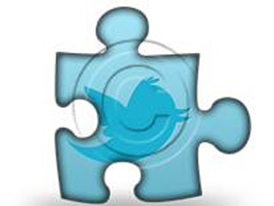 Twitter Square Puz PPT PowerPoint Image Picture